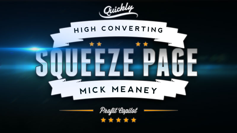 High converting squeeze page